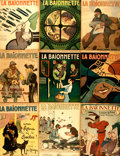 Books:Periodicals, [World War I]. Fifty-Five Issues of French Satire Periodical LaBaïonette. Nos. 16 - 127. October 21, 1915 - Decem...