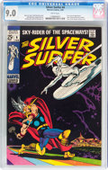 Silver Age (1956-1969):Superhero, The Silver Surfer #4 (Marvel, 1969) CGC VF/NM 9.0 White pages....