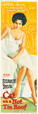 """Cat on a Hot Tin Roof (MGM, 1958). Door Panel (20"""" X 59"""")"""