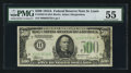 Small Size:Federal Reserve Notes, Fr. 2202-H $500 1934A Mule Federal Reserve Note. PMG About Uncirculated 55.. ...