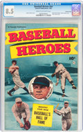 Golden Age (1938-1955):Non-Fiction, Baseball Heroes #nn Crowley Copy pedigree (Fawcett Publications,1952) CGC VF+ 8.5 Cream to off-white pages....