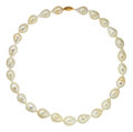 Estate Jewelry:Boxes, Freshwater Cultured Pearl, Gold Necklace. ...