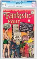 Silver Age (1956-1969):Superhero, Fantastic Four #9 (Marvel, 1962) CGC NM 9.4 Off-white to white pages....