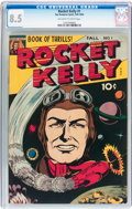 Golden Age (1938-1955):Science Fiction, Rocket Kelly #1 (Fox Features Syndicate, 1944) CGC VF+ 8.5Off-white to white pages....