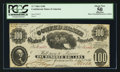Confederate Notes:1861 Issues, T7 $100 1861 Cr. UNL.. ...