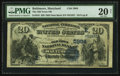 National Bank Notes:Maryland, Baltimore, MD - $20 1882 Date Back Fr. 555 The Old Town NB Ch. #(E)5984. ...
