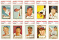 Baseball Cards:Lots, 1952 Topps High-Number PSA-Graded EX-MT 6 Collection (13). Thiscollection of high numbers contain 13 cards. Graded - PSA ...