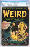 Golden Age (1938-1955):Horror, Weird Tales of the Future #5 (Aragon, 1953) CGC VG- 3.5 Cream tooff-white pages....