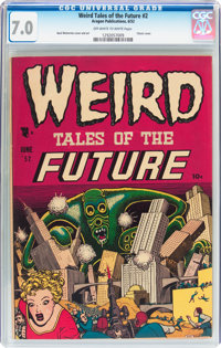 Weird Tales of the Future #2 (Aragon, 1952) CGC FN/VF 7.0 Off-white to white pages