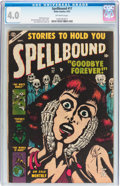 Golden Age (1938-1955):Horror, Spellbound #17 (Atlas, 1953) CGC VG 4.0 Off-white pages....