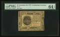 Colonial Notes:Continental Congress Issues, Continental Currency November 29, 1775 $7 PMG Choice Uncirculated 64 EPQ.. ...