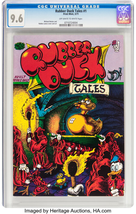 Rubber Duck Tales #1 (Print Mint, 1971) CGC NM+ 9.6 Off-white to white pages....