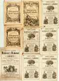 Books:Americana & American History, [Almanacs]. Group of Nine Nineteenth-Century Almanacs. Variouspublishers, [1870 - 1886]. . ... (Total: 9 Items)