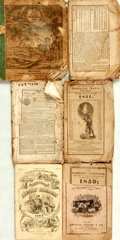 Books:Americana & American History, [Almanacs]. Group of Six Nineteenth-Century Almanacs. Variouspublishers, [1823 - 1858]. . ... (Total: 6 Items)