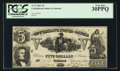 Confederate Notes:1861 Issues, T37 $5 1861 Cr. 284.. ...
