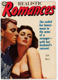 Golden Age (1938-1955):Romance, Realistic Romances #1 (Avon, 1951) Condition: FN....