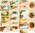 Miscellaneous:Ephemera, Collection of Approximately Fifty-Two Victorian Calling Cards.Circa 1890. ...