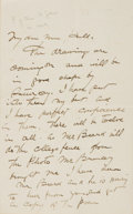 Autographs:Artists, Charles Dana Gibson, illustrator (1867 - 1944). Autograph LetterSigned. Dated October 21, 1891. ...