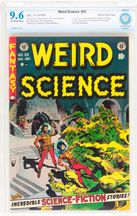 Weird Science #22 Gaines File pedigree 4/11 (EC, 1953) CBCS NM+ 9.6 Off-white to white pages