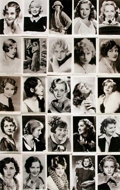 """Miscellaneous:Postcards, [Postcards]. Group of Fifty-Five """"Picturegoer"""" Series PostcardsDepicting Female Film Stars of the 1930s. [N.p., n.d., circa..."""