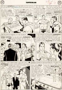 """Curt Swan and George Klein Superman #165 """"Beauty and the Super-Beast!"""" Page 6 Original Art (DC, 1963)"""