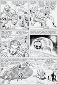 Original Comic Art:Panel Pages, Jack Kirby and Chic Stone Fantastic Four #38 Page 9 OriginalArt (Marvel, 1965)....