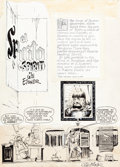"Original Comic Art:Complete Story, Will Eisner The Spirit Weekly ""El Spirito"" Complete 7-PageStory Original Art (Will Eisner Productions, 1948).... (Total: 7Original Art)"