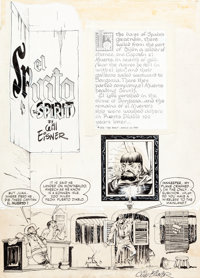 """Will Eisner The Spirit Weekly """"El Spirito"""" Complete 7-Page Story Original Art (Will Eisner Productions, 1948)..."""