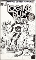 Original Comic Art:Covers, Paul Gulacy Logan's Run #6 Cover Original Art (Marvel,1977)....