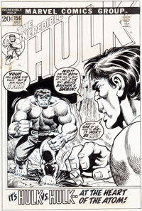Herb Trimpe Incredible Hulk #156 Cover Original Art (Marvel, 1972)