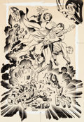 Original Comic Art:Illustrations, Jack Kirby and Mike Royer Superman Comic Game PuzzleIllustration Original Art (Mattel, 1971)....