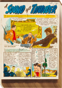 """EC Weird Science-Fantasy #25 """"A Sound of Thunder"""" Complete Story Silverprint Proof Group (EC, 1954).... (Total..."""