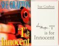 "Books:Mystery & Detective Fiction, Sue Grafton. SIGNED. ""I"" is for Innocent. New York: HenryHolt and Company, [1992]...."