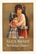 """Movie Posters:Drama, Her Great Chance (Select, 1918). One Sheet (28.25"""" X 41.25"""").. ..."""