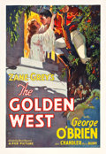 "Movie Posters:Western, The Golden West (Fox, 1932). One Sheet (28"" X 41"").. ..."