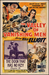 "The Valley of Vanishing Men (Columbia, 1942). One Sheet (27"" X 41"") Chapter 14 --""The Door That Has No Ke..."
