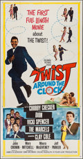 "Movie Posters:Rock and Roll, Twist Around the Clock (Columbia, 1961). Three Sheet (41"" X 78.5"").Rock and Roll.. ..."