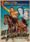 """Movie Posters:Western, Dodge City (Warner Brothers, 1950). First Post War Release German A1 (23.25"""" X 32.75""""). Western.. ..."""