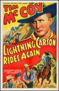 """Movie Posters:Western, Lightning Carson Rides Again (Victory, 1938). One Sheet (27"""" X 41""""). Western.. ..."""