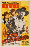 "Movie Posters:Western, Lone Texas Ranger (Republic, 1945). One Sheet (27"" X 41""). Western.. ..."
