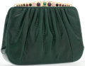 "Luxury Accessories:Accessories, Judith Leiber Green Karung Evening Bag. Very Good Condition.8"" Width x 5.5"" Height x 1.5"" Depth. ..."
