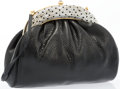 "Luxury Accessories:Accessories, Judith Leiber Black Karung Evening Bag. Very Good to Excellent Condition. 8.5"" Width x 6.5"" Height x 3"" Depth. ..."
