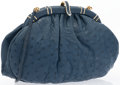 "Luxury Accessories:Accessories, Judith Leiber Blue Ostrich Evening Bag. Very Good to Excellent Condition. 9"" Width x 5.5"" Height x 3"" Depth. ..."
