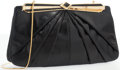 "Luxury Accessories:Accessories, Judith Leiber Black Karung Shoulder Bag with Gold Hardware. GoodCondition. 11.5"" Width x 6.5"" Height x 1"" Depth. ..."