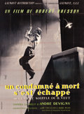 "Movie Posters:Drama, A Man Escaped (Gaumont, 1956). French Four Panel (92"" X 126"").. ..."