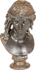 Movie/TV Memorabilia:Memorabilia, A Patinated Cast Iron Bust of Dionysus....
