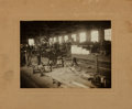 Books:Photography, [Photography]. Black and White Photograph Depicting Factory Workers on the Shop Floor. [n.d., circa 1920]. . ...