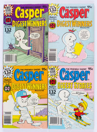 Casper-Related Digests and Books File Copies Box Lot (Harvey, 1963-80) Condition: Average NM-