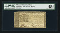 Colonial Notes:Maryland, Maryland April 10, 1774 $6 PMG Choice Extremely Fine 45 Net.. ...