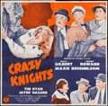 "Movie Posters:Comedy, Crazy Knights (Monogram, 1944). Six Sheet (79.25"" X 80""). Comedy....."